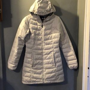 Shimmery North Face parka